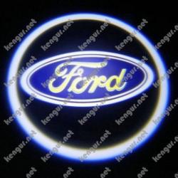 Лазерная подсветка дверей с логотипом на Ford Connect