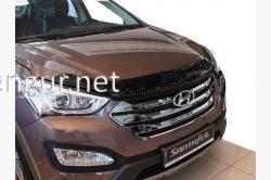 Дефлектор капота - мухобойка (SIM) Hyundai Santa Fe 2012-…