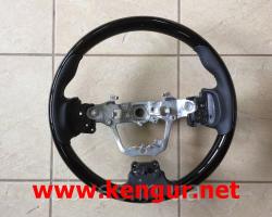 Руль Toyota Corolla 2013-... (черная кожа + черное дерево) Sport - type GS120-03360