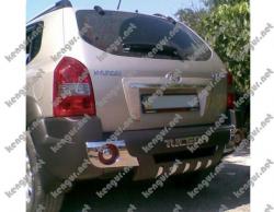 Накладка заднего бампера Hyundai Tucson (пластик)