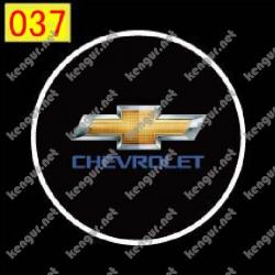 Лазерная подсветка дверей с логотипом Chevrolet (№037)