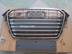 Решетка радиатора Audi A4 2012-2015, стиль S4 (серая)