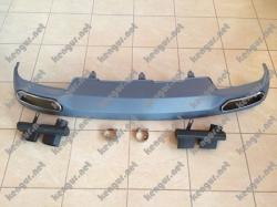 Диффузор заднего бампера Audi A6 C7 (2012-2015) New Style