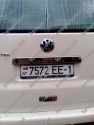 Накладка подсветки номера Volkswagen T6 с гравировкой (Ляда)