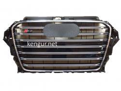 Решетка радиатора Audi A3 стиль S3 2012-2015 Black