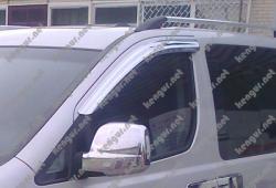 Дефлекторы окон (ветровики) наружные хромированые