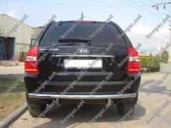 Защита заднего бампера Kia Sportage прямая