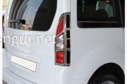 Накладки на задние фонари (пластик) Citroen Berlingo 2008-2018