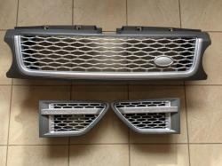 Решетка радиатора и жабры Range Rover Sport (2009-2013) Серая VPLSB0061