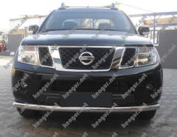 Акция!!! Защита переднего бампера Nissan Navara прямой ус