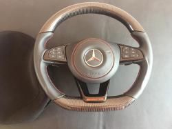 Руль карбоновый Mercedes Benz S Class W222 AMG Красная нитка