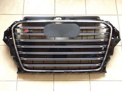 Решетка радиатора Audi A3 в стиле S3 чёрная 8V3853651E