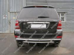 Защита заднего бампера  сабля  Mercedes-Benz  GL-Class X164