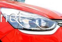 Накладки на передние фары Renault Clio 2012-…