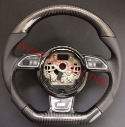 Руль карбоновый в стиле S-line на Audi A3 8V (2012-...)
