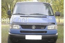 Дефлектор капота (VIP) на VW T4 (с косыми фарами) 1997-2003
