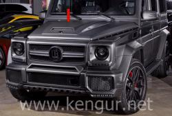 Карбоновый капот с докладкой стиль Brabus Mercedes-Benz G-Class W463