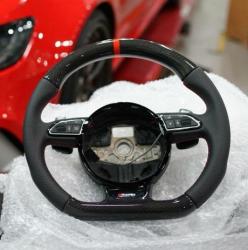 Руль карбоновый на Audi A8 D4
