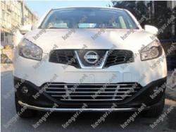 Акция!!! Защитная дуга по бамперу Nissan Qashqai одинарная