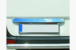 Накладка над номером на крышку багажника Volkswagen Crafter (нерж.) 7539052