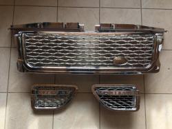 Решетка радиатора и жабры Range Rover Sport (2005-2009) Хром