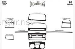 Декоративные накладки на панель Fiat Linea 2007-2012