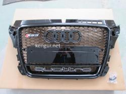 Решетка радиатора Audi A3 стиль RS3 2008-2011 all black Quattro