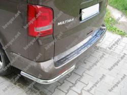 Накладка на задний бампер Volkswagen T6 (нерж.)  TR