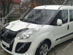 Дефлектор капота - мухобойка (VIP) Fiat Doblo 2010-2015