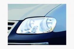 Накладки на передние фары (Carmos) VW Caddy 2003-2010
