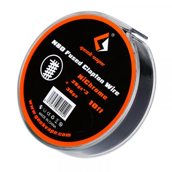 GeekVape N80 Fused Clapton Wire 10ft 28GAx3 + 36GA   50см - фото 1