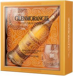 Виски Glenmorangie Original 10 лет 0,7 л. 40% подарочный набор + 2 бокала
