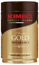 Кофе Молотый Kimbo Aroma Gold 100% Arabica 250 г. Ж/Б.