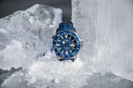 Тест на выносливость под льдом с часами Davosa