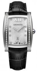 Женские часы Aerowatch 03952AA01DIA-black-leather-strap