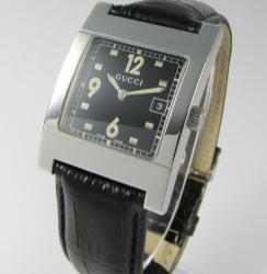 Женские часы Gucci 7700M-17730-BLKSTEELBLK-STRAP