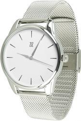 Женские часы ZIZ Черным по белому (ремешок из нержавеющей стали серебро)