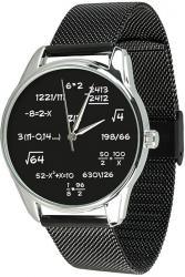 Женские часы ZIZ Математика (ремешок из нержавеющей стали черный)