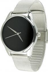 Женские часы ZIZ Минимализм черный (ремешок из нержавеющей стали серебро)