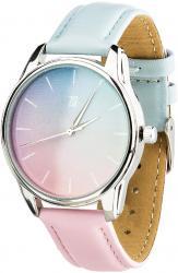 Женские часы ZIZ Розовый кварц и Безмятежность (ремешок голубо-розовый, серебро)