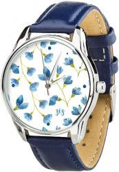 Женские часы ZIZ Сама нежность (ремешок ночная синь, серебро)