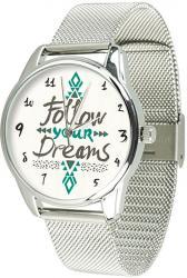 Женские часы ZIZ За своей мечтой (ремешок из нержавеющей стали серебро)