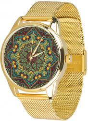 Женские часы ZIZ Золотые узоры (ремешок из нержавеющей стали золото)