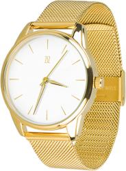 Женские часы ZIZ Золотым по белому (ремешок из нержавеющей стали золото)