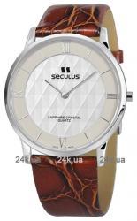 Мужские часы Seculus 4455.1.106 white, honey