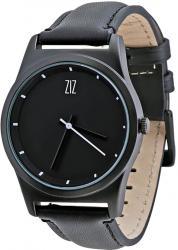 Мужские, Женские часы ZIZ 6 секунд Black (черный кожаный ремешок)