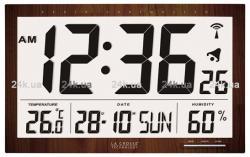 Настольные часы La Crosse WS8007-WOOD
