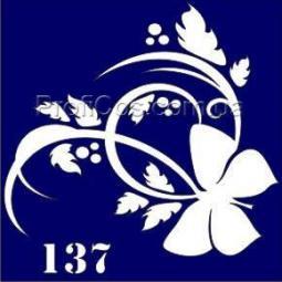 Boni Kasel Трафарет для био тату 6x6 см - 137