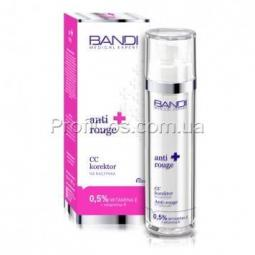Антикуперозный СС-крем для лица с витаминами Е и К Bandi Anti-rouge CC capillary
