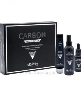 Фото Корректирующий карбоновый пилинг-комплекс для обновления кожи лица Aravia Professional